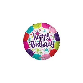 Palloncino Mylar Mini Shape 22 cm. Happy Birthday Fresh