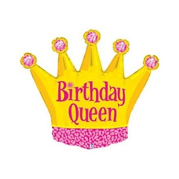 Palloncino Mylar Mini Shape 35 cm. Birthday Queen Crown