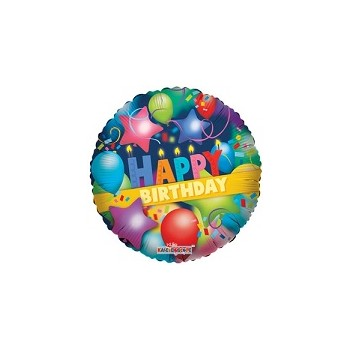Palloncino Mylar Mini Shape 35 cm. Happy Birthday