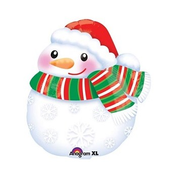 Palloncino Mylar 45 cm. Bundled up Snowman