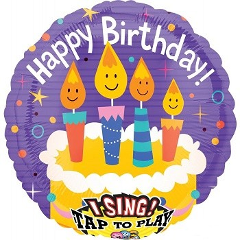 Palloncino Mylar Musicale 71 cm. Bday Candles