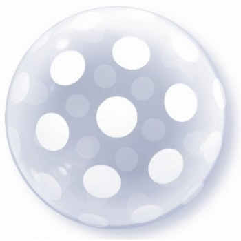 Palloncino Bubble Big Polka Dots All Around 51 cm.