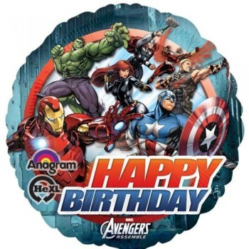 Palloncino Mylar 45 cm. Happy Birthday Avengers