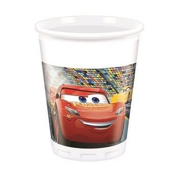 Bicchieri plastica 200 ml Cars 3 - 8 pz.