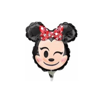 Palloncino Mylar Mini Shape 35 cm. Minnie Mouse Rosso Emoji