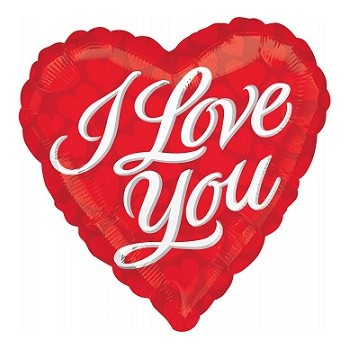 Palloncino Mylar 45 cm.I Love You Tonal Hearts