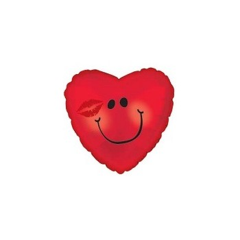 Palloncino Mylar Mini Shape 22 cm. Smiley Kiss
