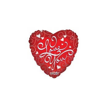 Palloncino Mylar Mini Shape 35 cm. I Love You White Hearts