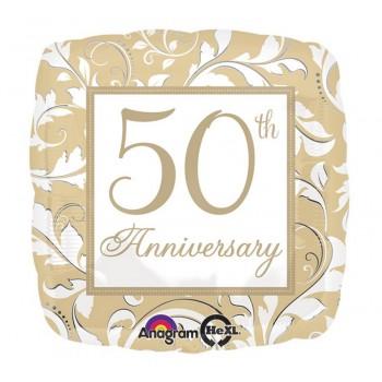 Candelina Oro 50° Anniversario H. 7 cm.