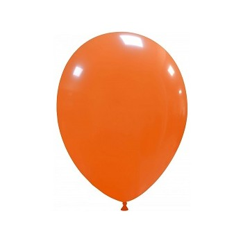 Palloncino in Lattice Rotondo 30 cm. Arancio