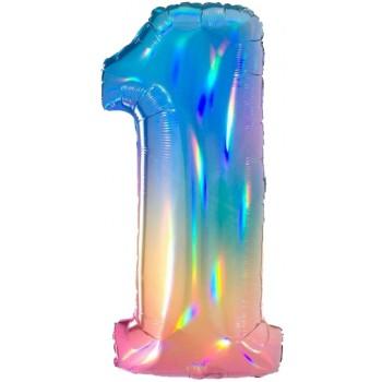 Palloncino in Lattice Mongolfiera 80 cm. Arancio - Round