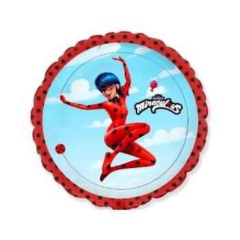 Palloncino in Lattice Mongolfiera 80 cm. Blu Chiaro - Round