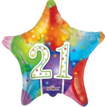 Palloncino Mylar 45 cm. Cuore Rosa Antico Satinato