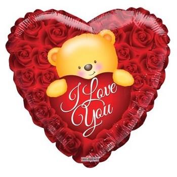Palloncino Mylar Super Shape 120 cm. Love Cuoricino Rosa Antico - NO ELIO