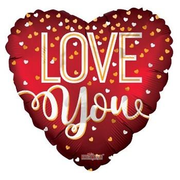 Palloncino Mylar Super Shape 120 cm. Love Cuoricino Rosso - NO ELIO