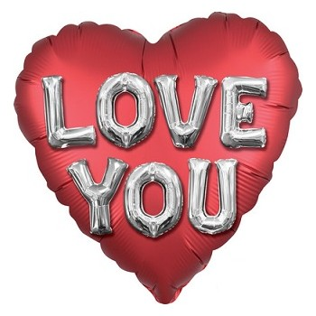 Palloncino Mylar 45 cm. Love You