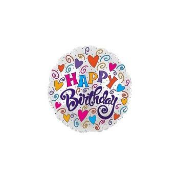 Palloncino in Lattice Bolle di Sapone Rotondo 30 cm. Azzurro