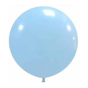 Palloncino in Lattice Rotondo 48 cm. Azzurro Macaron