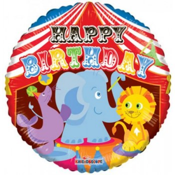 Palloncino Mylar 45 cm. Birthday Circus
