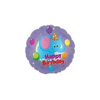 Palloncino Mylar Mini Shape 22 cm. Happy Birthday Day Party Elephant