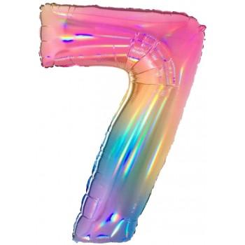 Palloncino Mylar 45 cm. 40° Happy Birthday Black and Silver Star