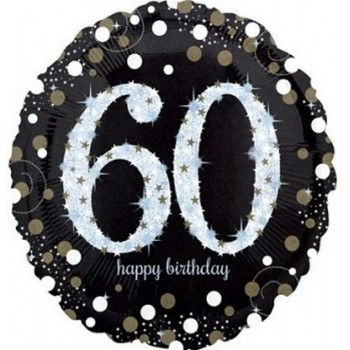 Palloncino Mylar 45 cm. 60° Age Sparkling Bday