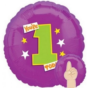 Palloncino Mylar 45 cm. You're 1 Today!