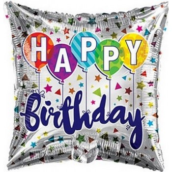 Palloncino Mylar 45 cm. Q - Birthday Latex Balloons