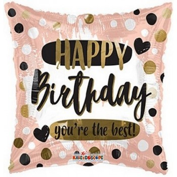 Palloncino Mylar 45 cm. Q - Birthday You're the Best