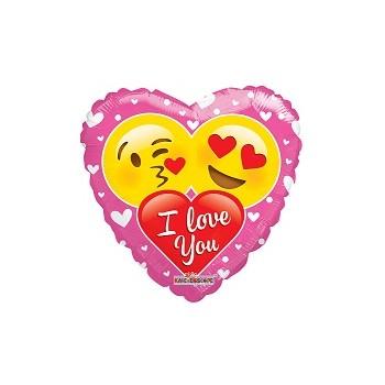 Palloncino Mylar 45 cm. F - Fizzy Moon Happy Birthday Day Pink Flower