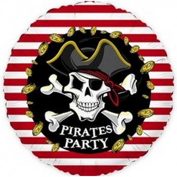 Palloncino Mylar 45 cm. Pirates