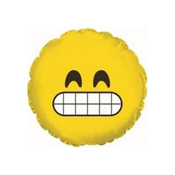 Palloncino Mylar Mini Shape 23 cm. Emoticon Grinning Face