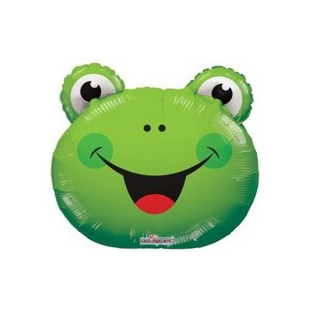 Palloncino Mylar Mini Shape 35 cm. Frog Head
