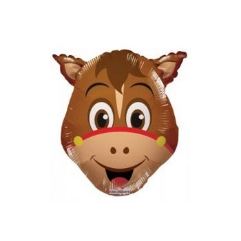 Palloncino Mylar Mini Shape 35 cm. Horse Head