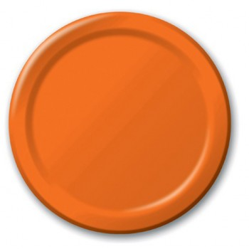 Arancione - Piatto Carta 22 cm. - 8 pz.
