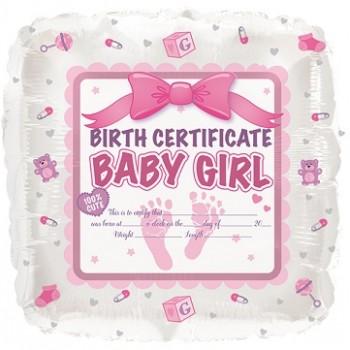Baby Shower Bambina - Piatto Carta 18 cm. - 8 Pz.