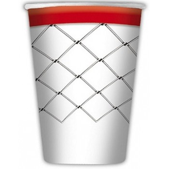 Basket - Bicchiere Carta 200 ml. - 8 Pz.