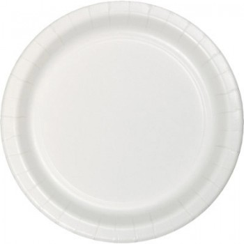 Bianco - Piatto Carta 22 cm. - 8 Pz.