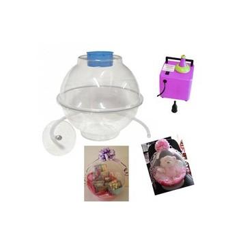 Macchina inserimento regali nel palloncino Il set contiene: un Stuffer- globo un tubo flessibile con piastra un manicot
