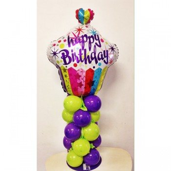 Confezione Happy Birthday Cupcake Dim: cm 25x100 h circa (variabile). Prodotto personalizzabile