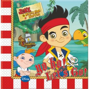 Jake e i Pirati - Tovagliolo 33x33 cm. - 20 pz.