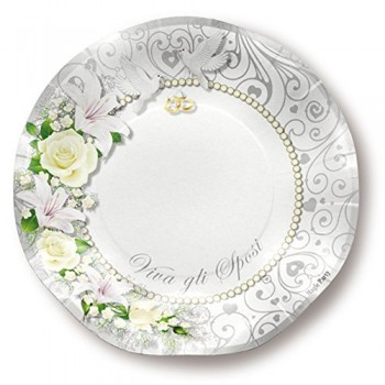 Matrimonio - Piatto Carta 10 cm. - 8 pz.