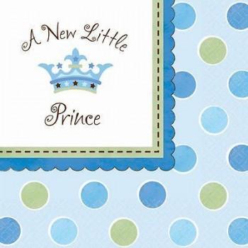 Coordinato Nascita Bimbo A New Little Prince - Tovagliolo 33x33 cm. - 16 pz.