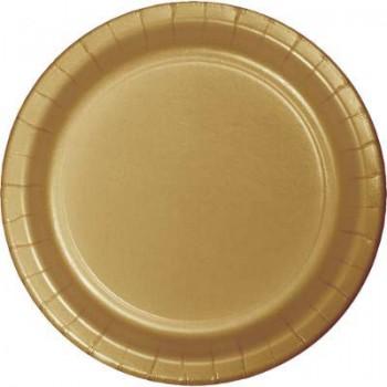 Oro - Piatto Carta 22 cm. - 8 Pz.