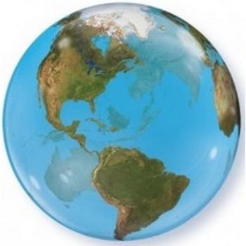 Palloncino Bubble 56 cm. Mappamondo