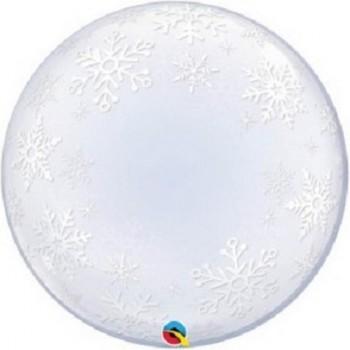 Palloncino Bubble 61 cm. Fiochi di Neve