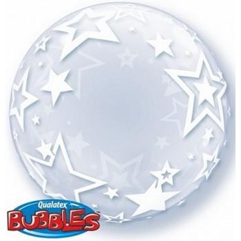 Palloncino Bubble 61 cm. Stelle