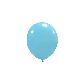 Palloncino in Lattice Rotondo 12,5 cm. Azzurro
