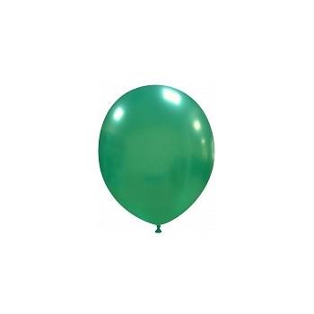 Palloncino in Lattice Rotondo 12,5 cm. Verde Scuro Metallizzato