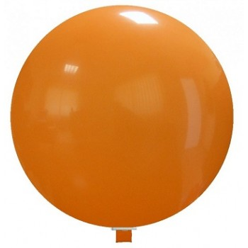 Palloncino in Lattice Rotondo 150 cm. Arancione - Piatto. Si consiglia valvola di chiusura